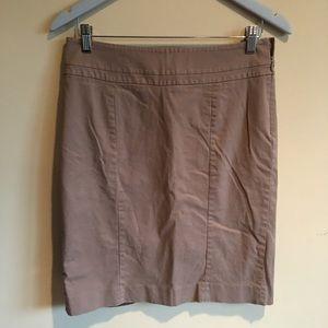 Loft Tan Pencil skirt Size 6